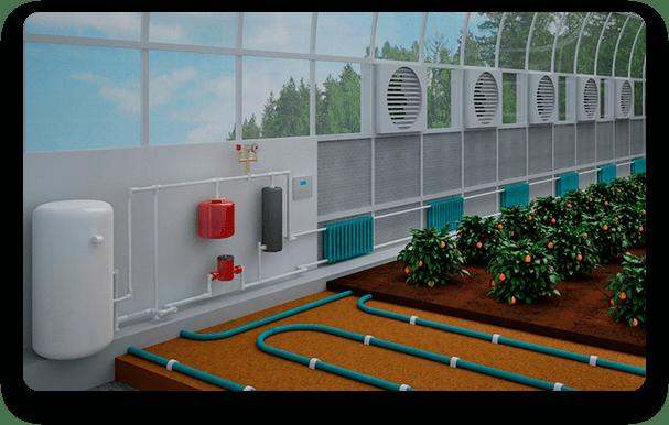 Тепловые насосы для теплиц
